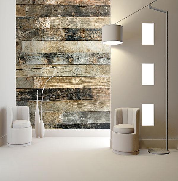 Murales digitales de lamas de madera villalba interiorismo - Pared de madera decoracion ...