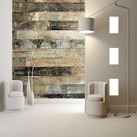 Murales digitales de lamas de madera