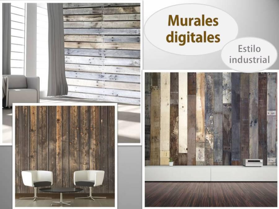 Murales estilo industrial - Villalba Interiorismo