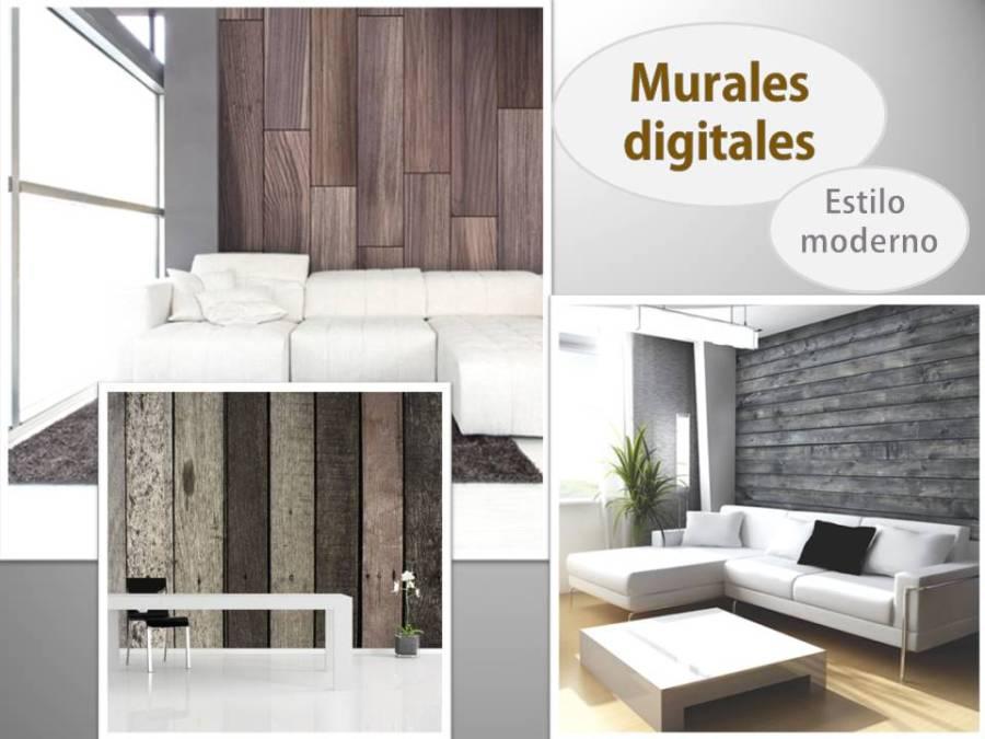 Murales estilo moderno - Villalba Interiorismo