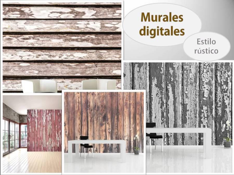 Murales estilo rústico - Villalba Interiorismo