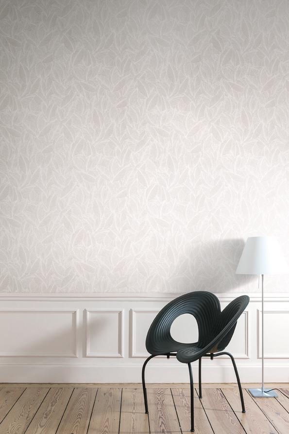 Papeles pintados con aires n rdicos villalba interiorismo for Papel pintado color plata