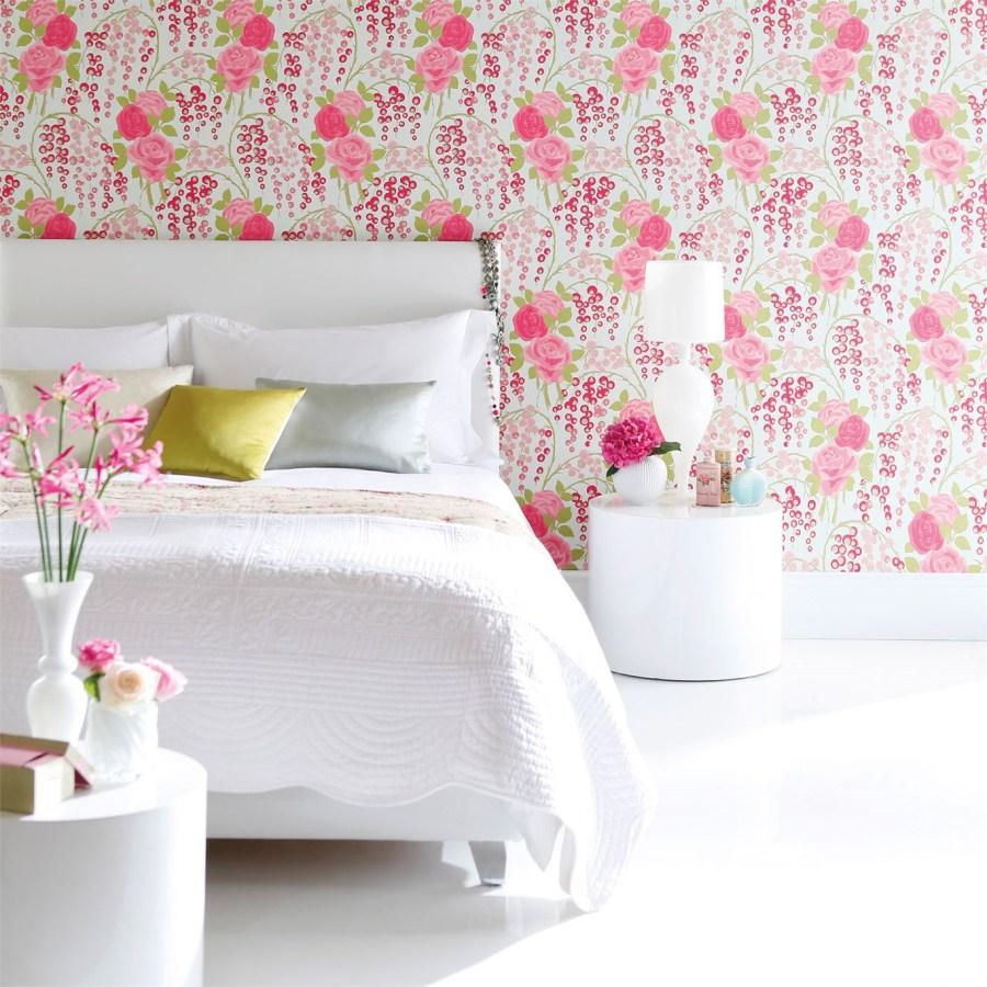 Papel pintado de flores dormitorio - Villalba Interiorismo (3)