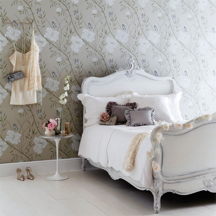 Papel pintado de flores dormitorio - Villalba Interiorismo (4)
