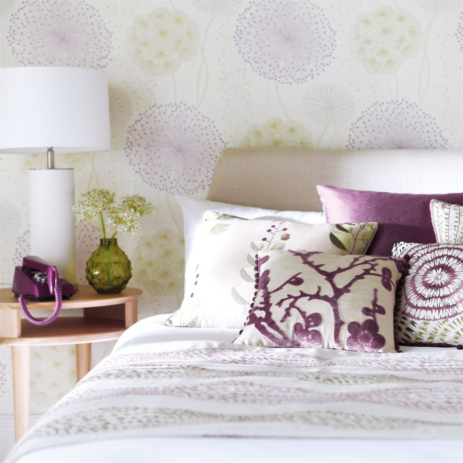 Papel pintado de flores dormitorio - Villalba Interiorismo (5)