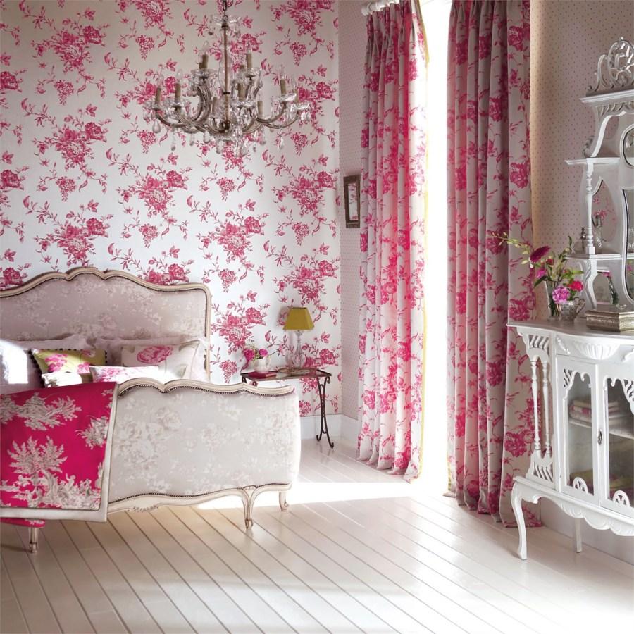 Papel pintado de flores dormitorio - Villalba Interiorismo (6)