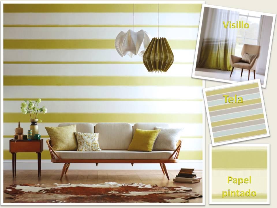 Salones pintados a rayas affordable moderno papel pintado - Salones pintados a rayas ...