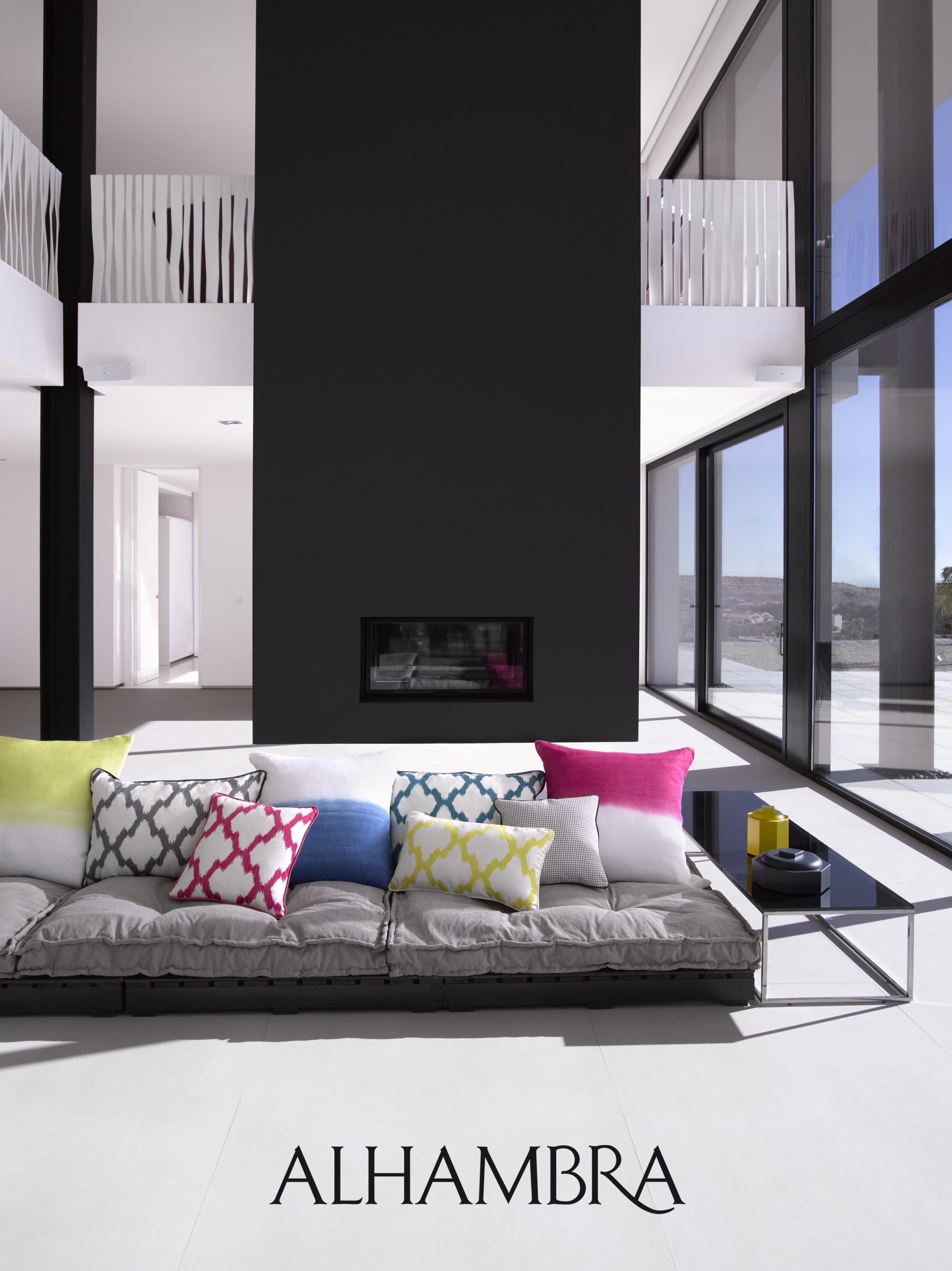 sof gris con cojines villalba