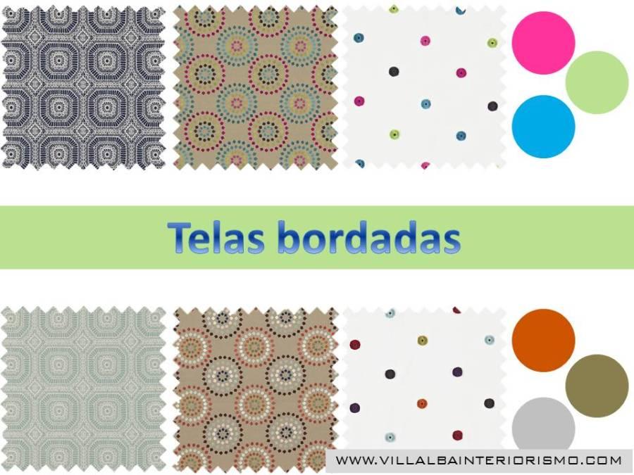 Telas bordadas - Villalba Interiorismo