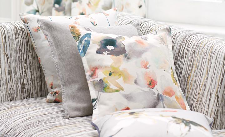 Cojines flores - Villalba Interiorismo