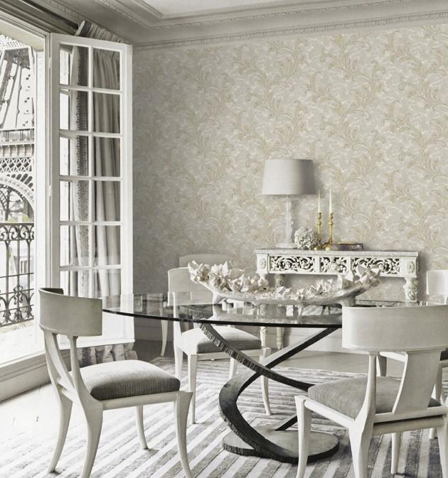 Comedor con papel pintado de Blumarine - Villalba Interiorismo (2)