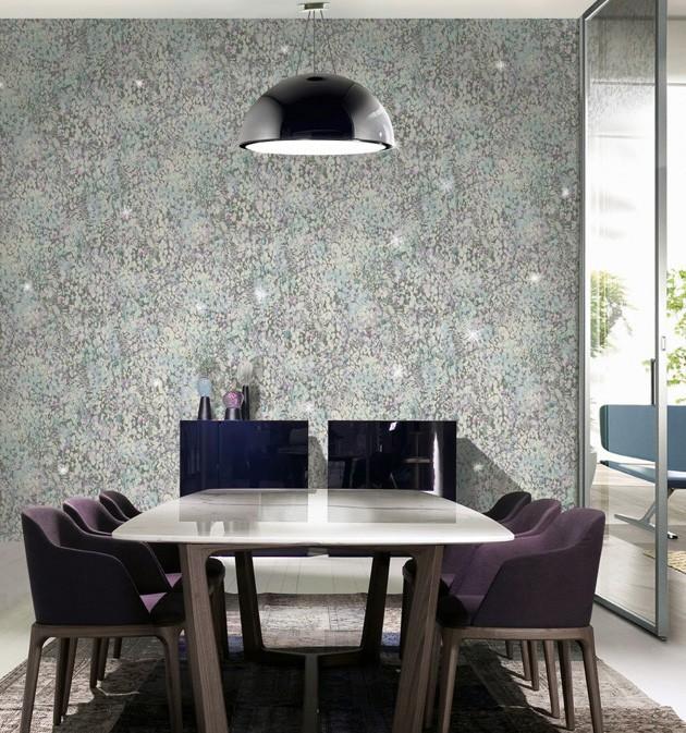 Comedor con papel pintado de Blumarine - Villalba Interiorismo (3)