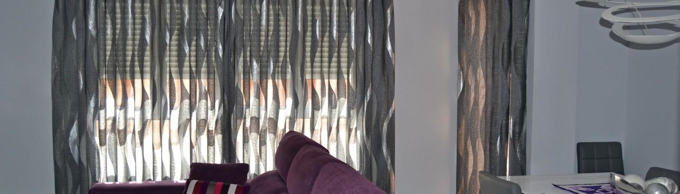 Cortinas para un piso moderno villalba interiorismo - Cortinas ya hechas ...