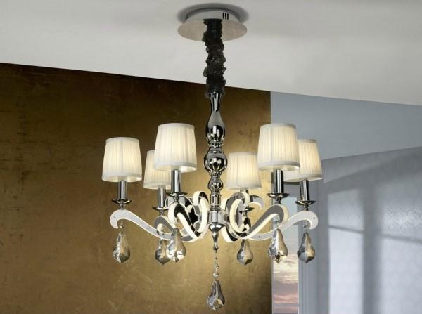 Una l mpara moderna de brazos y leds villalba interiorismo - Lamparas para el techo ...