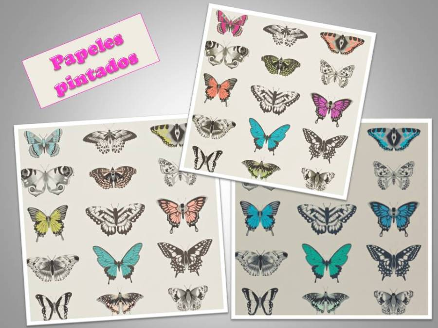 Papeles pintados mariposas - Villalba Interiorismo