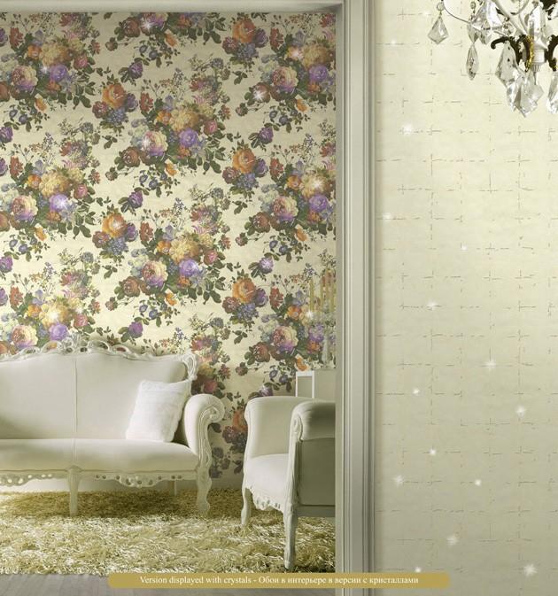 Salón con papel pintado Blumarine - Villalba Interiorismo (2)