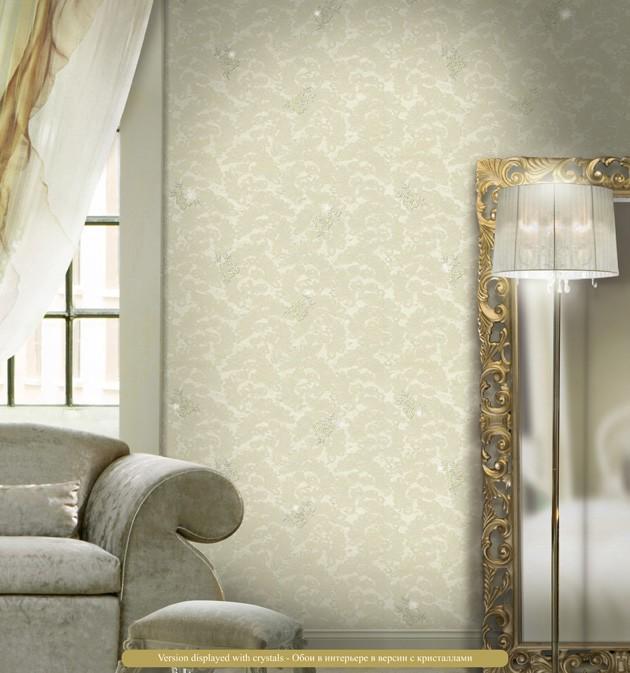 Salón con papel pintado Blumarine - Villalba Interiorismo