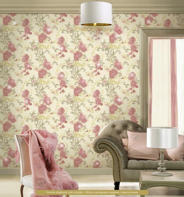 Salón con papel pintado de Blumarine - Villalba Interiorismo