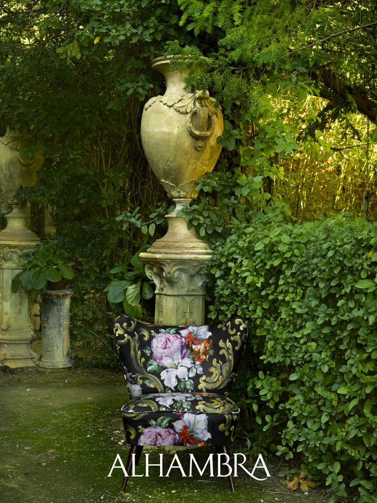 Sillón flores - Villalba Interiorismo