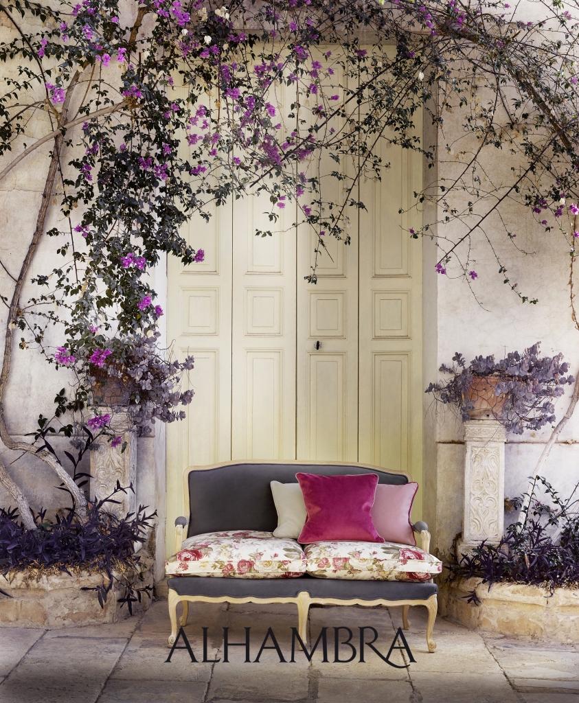 Telas de flores - Villalba Interiorismo
