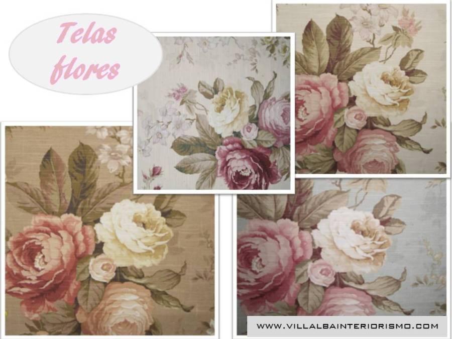 Telas flores - Villalba Interiorismo (2)