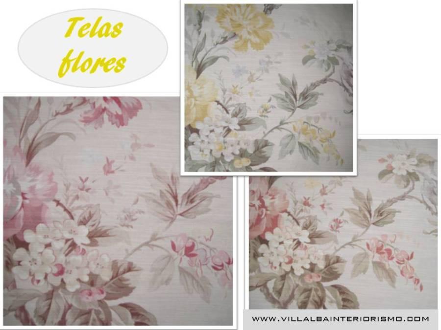 Telas flores Villalba Interiorismo