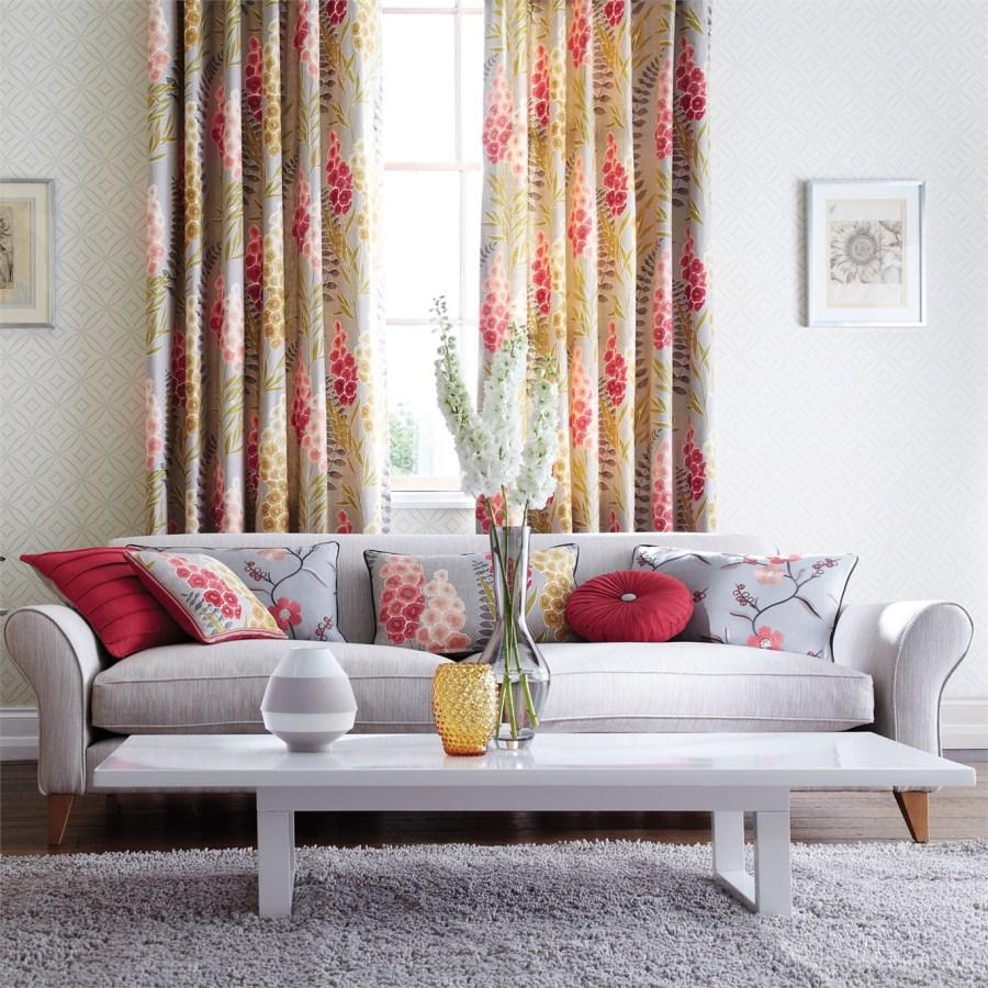 Cortinas estampadas de flores - Villalba Interiorismo (3)
