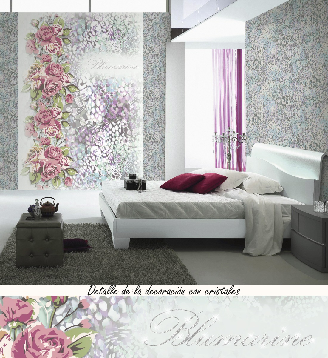 4 murales con cristales luxury de blumarine villalba - Cristales para paredes ...