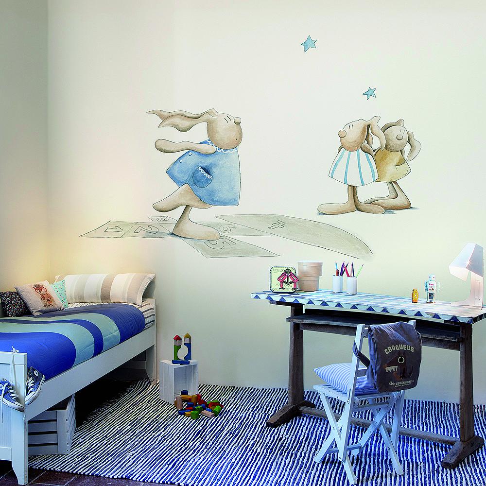 Murales de cuenta cuentos villalba interiorismo - Mural habitacion infantil ...