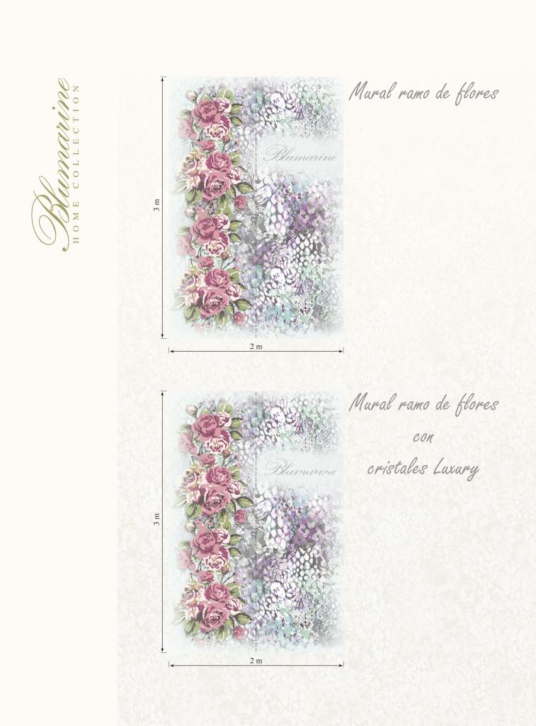 Mural ramo de flores con cristales Luxury de Blumarine - Villalba Interiorismo