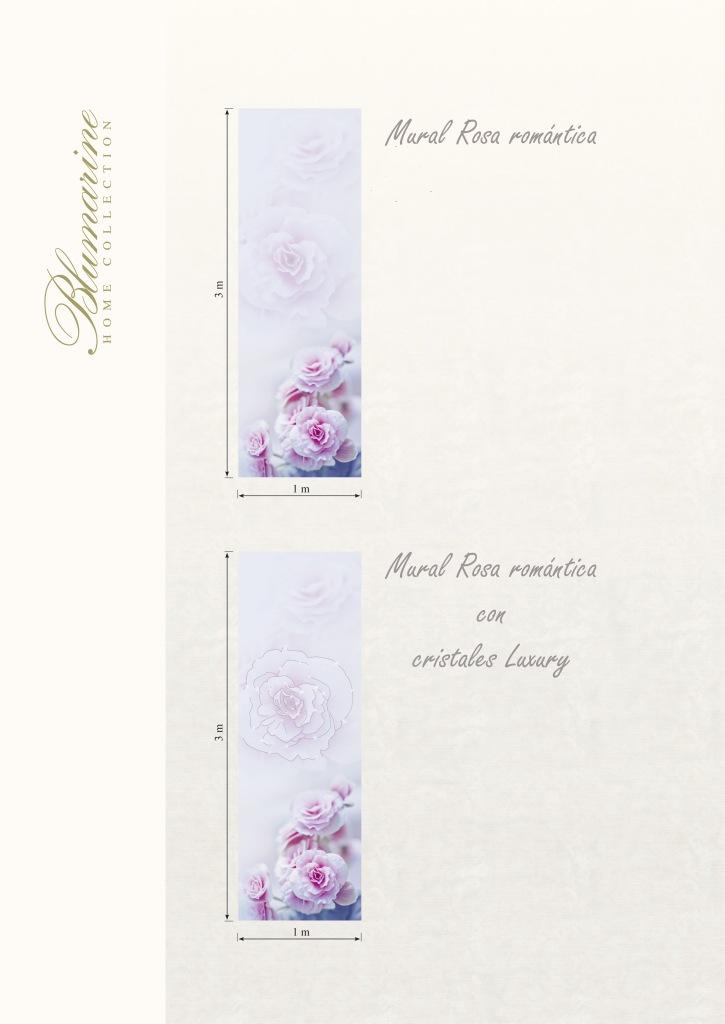 Mural rosa romántica con cristales Luxury de Blumarine - Villalba Interiorismo