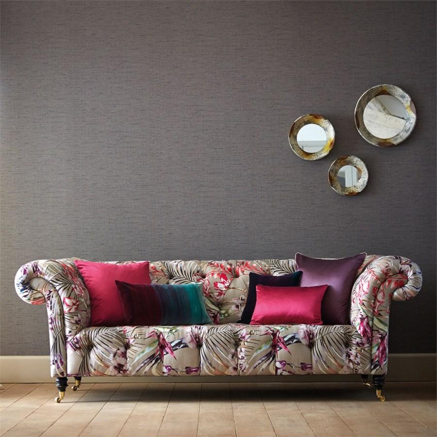 Sofá chester estampado flores - Villalba Interiorismo