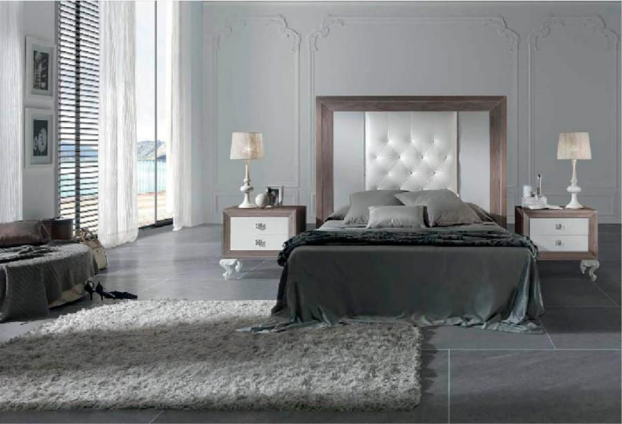 Muebles dormitorio en madera y lacado en blanco - Villalba Interiorismo