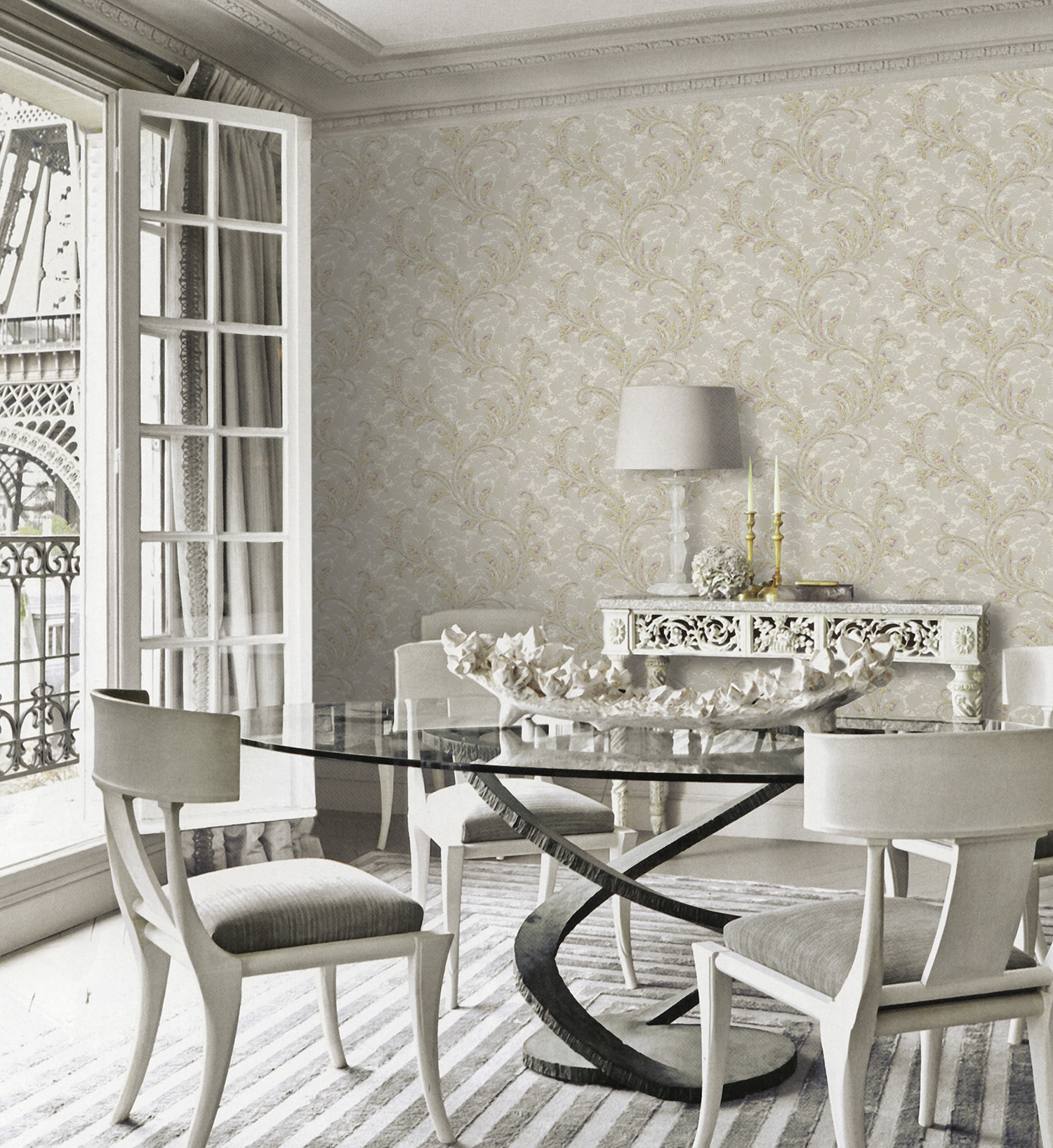 Elegancia en la decoraci n en beige villalba interiorismo for Papel pintado tonos beige