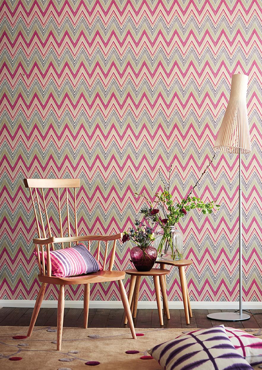 Zig zag en telas y papeles pintados villalba interiorismo for Papel para tapizar paredes