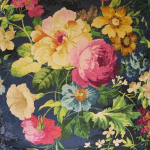 Tapicería terciopelo flores - Villalba Interiorismo