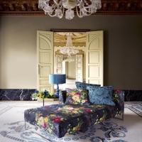 El lujo en una tapicería de flores