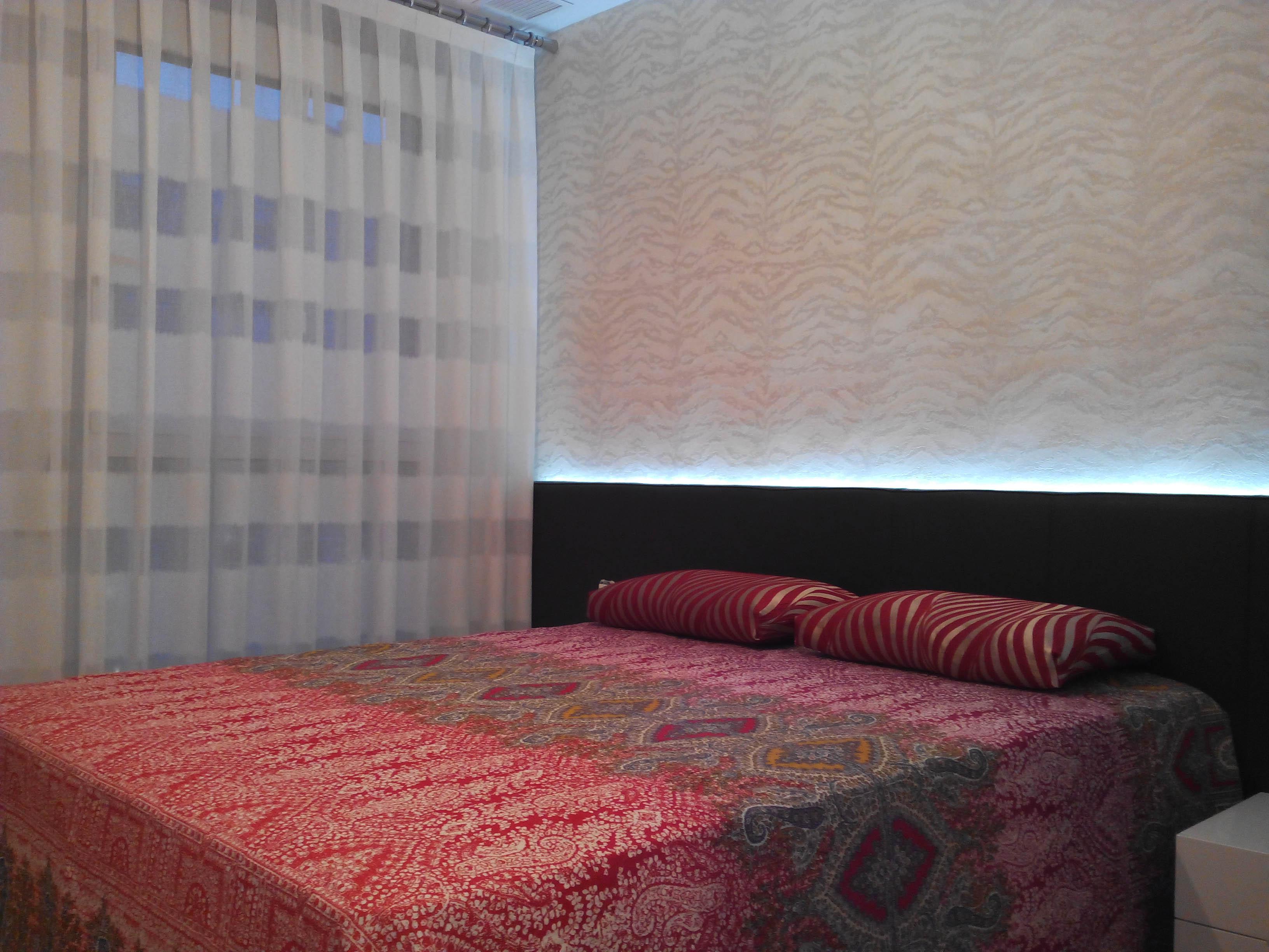 cortinas a rayas horizontales y papel pintado roberto cavalli villalba interiorismo nuestros trabajos clientes contentos pinterest - Papel Pintado Rayas Horizontales
