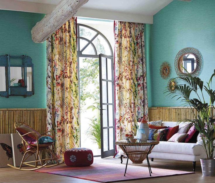 Ideas de color para verano villalba interiorismo - Telas estampadas para cortinas ...