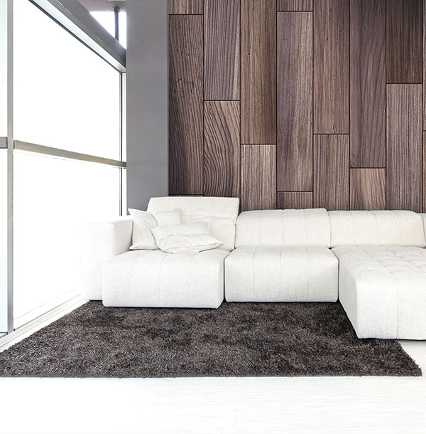 Papel mural lamas madera - Villalba Interiorismo