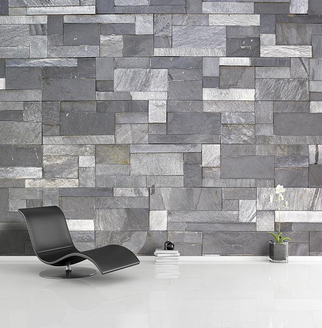 Papel mural piedra - Villalba Interiorismo