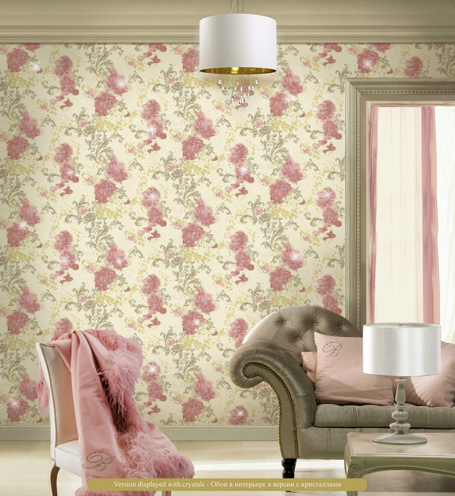 Papel pintado flores de Blumarine1 - Villalba Interiorismo