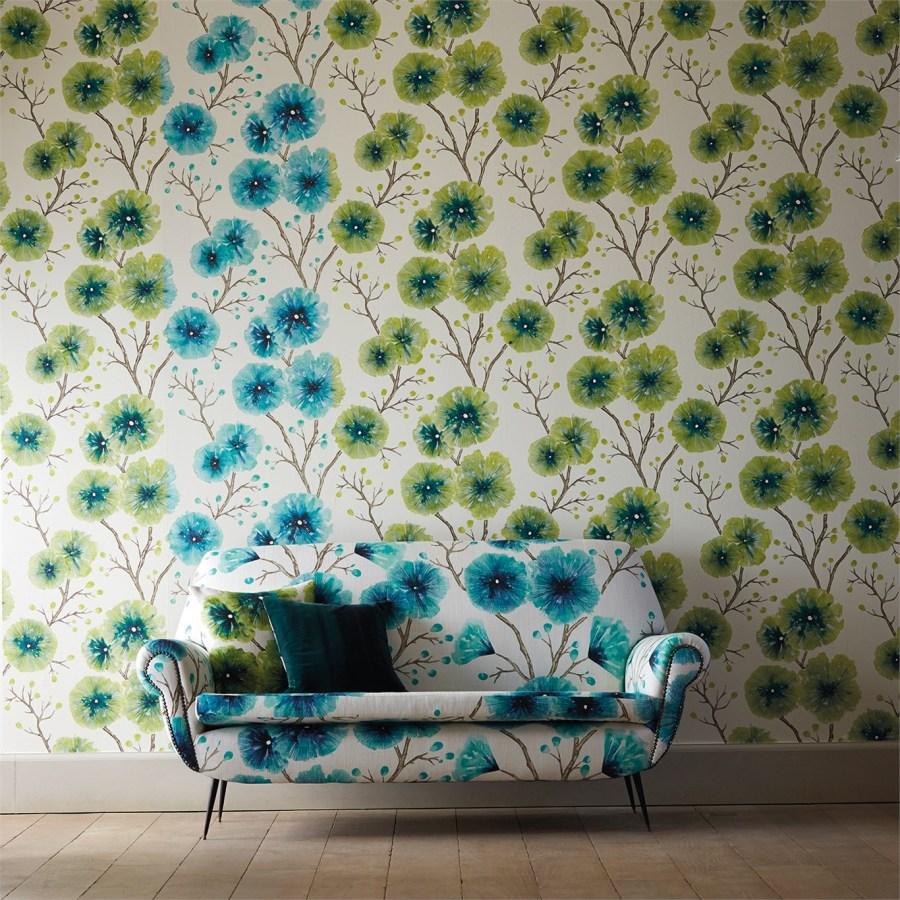Papel pintado flores de Harlequin (2)- Villalba Interiorismo