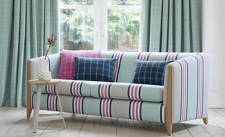 Ventajas de utilizar telas de rayas y cuadros villalba - Telas para tapizar sofas precios ...