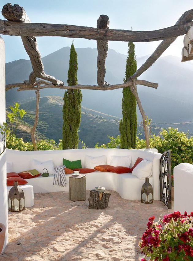Terraza con cojines outdoor - Villalba Interiorismo