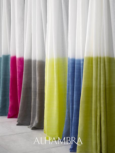 Visillos lino colores verano - Villalba Interiorismo