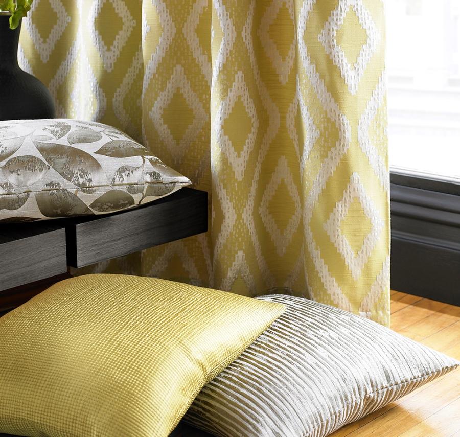 Cojines en amarillo y beige - Villalba Interiorismo (2)