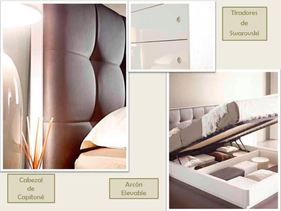 Detalles dormitorio moderno - Villalba Interiorismo