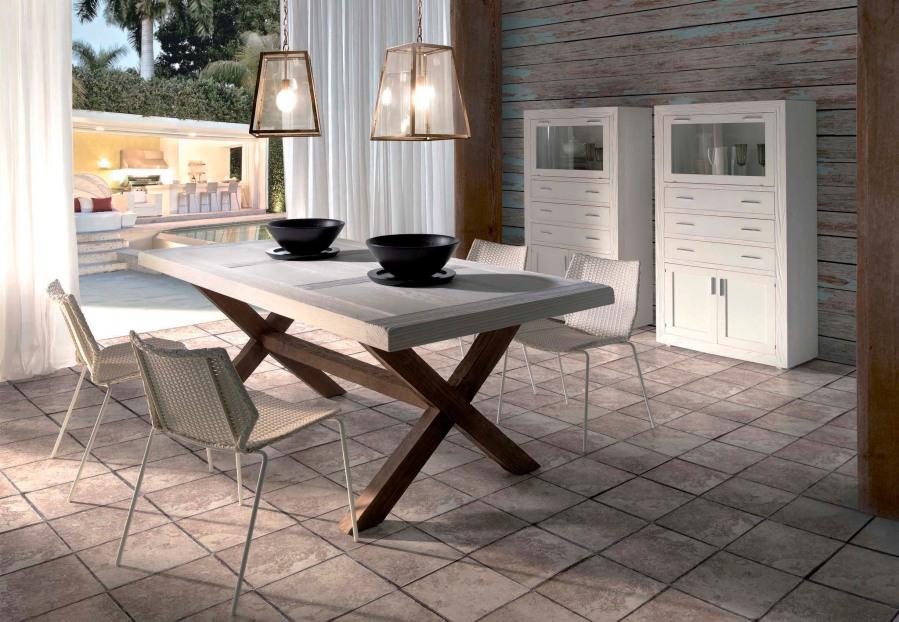 Mesa comedor rústica - Villalba Interiorismo