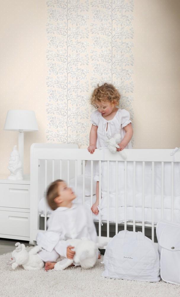 Papel pintado dormitorio bebé - Villalba Interiorismo (4)